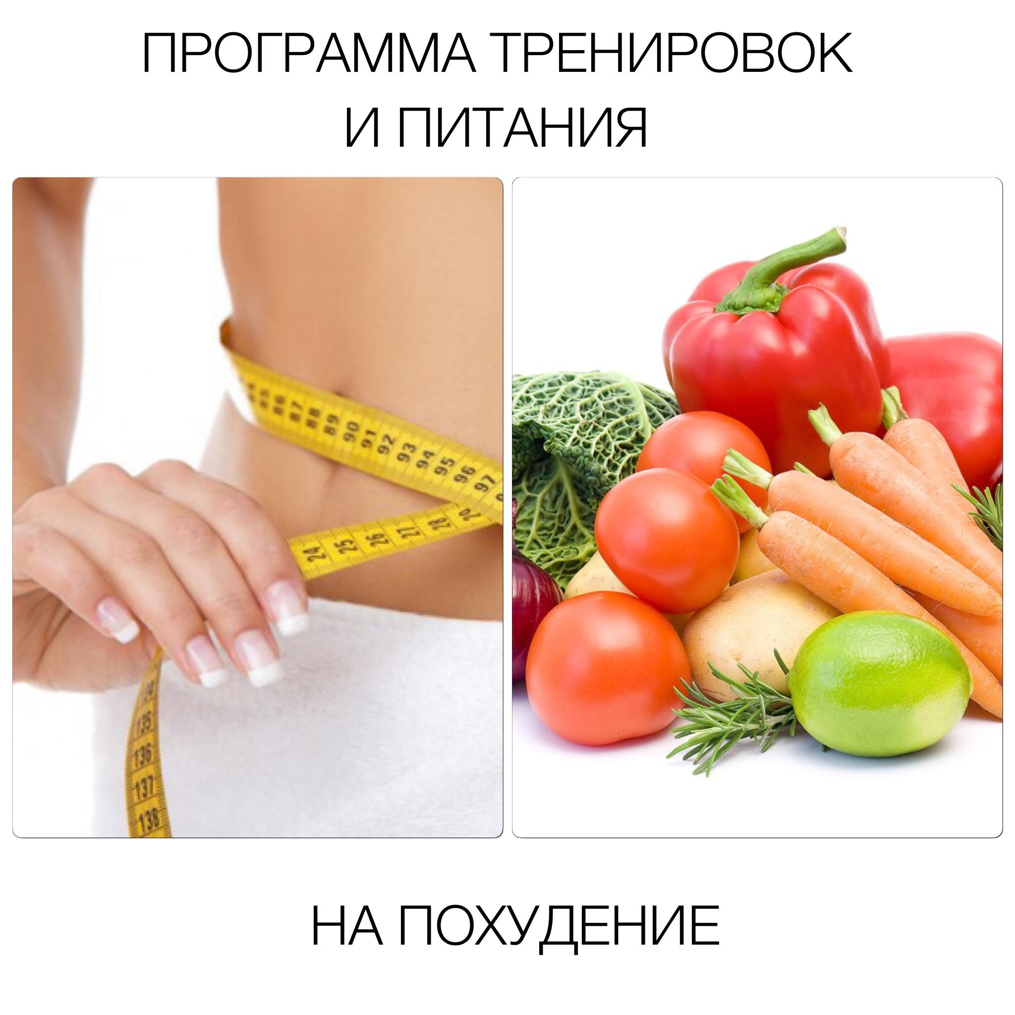 Составить План Питания И Тренировок Для Похудения. План питания и тренировок для похудения