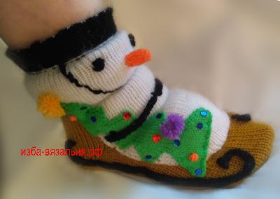 Носочки Снеговички. Урок машинного вязания