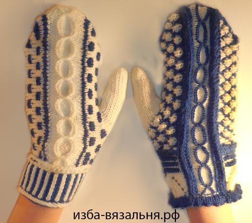 Две рукавички по одной выкройке. Мастер-класс вязания