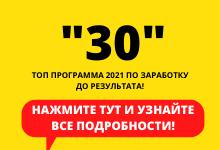 Программа *30*: онлайн заработок до результата